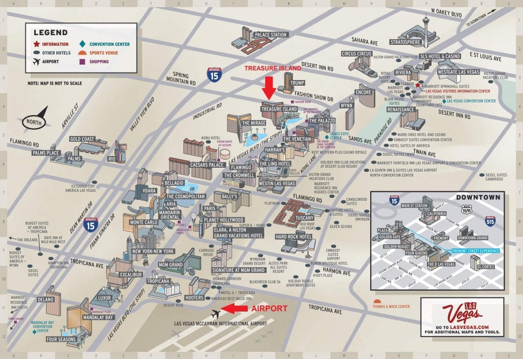 Map of the Las Vegas Strip